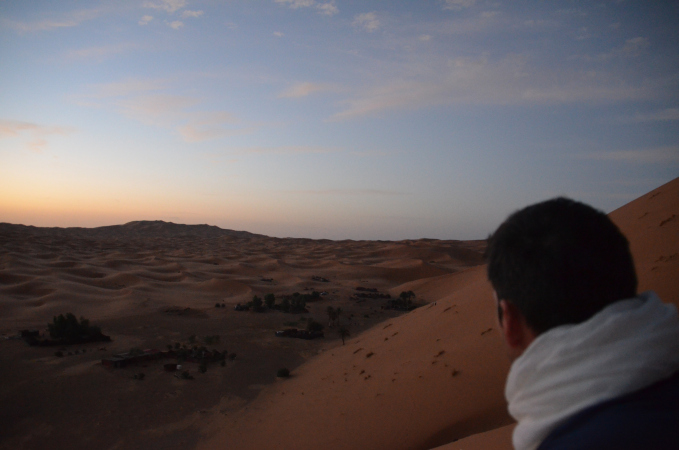 Sunrise over the Erg Chebbi Dunes, Sahara, Morocco