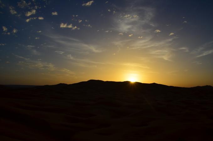Sunrise in Erg Chebbi, Sahara, Morocco