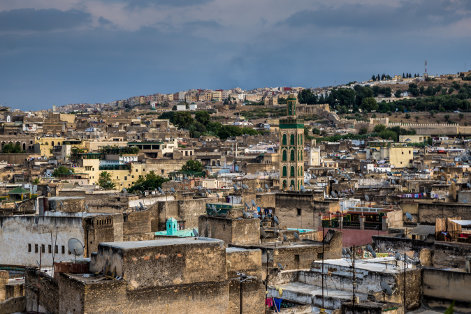 View across the medina of Fes