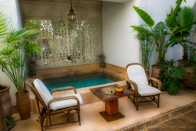 Dipping pool at Riad Camilia, Marrakech, Morocco