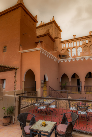 One of the patios at Kasbah Ellouze, Morocco