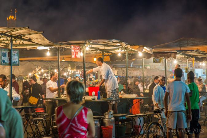 night market marrakech, Djemaa El Fna