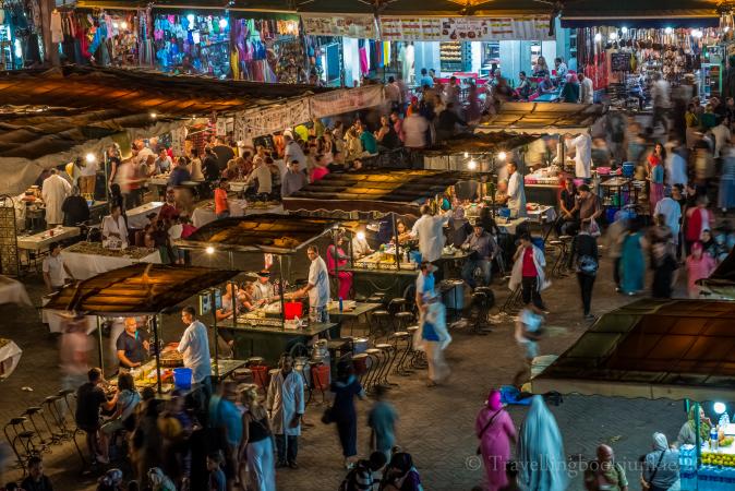 Marrakech night market, Djemaa El Fna