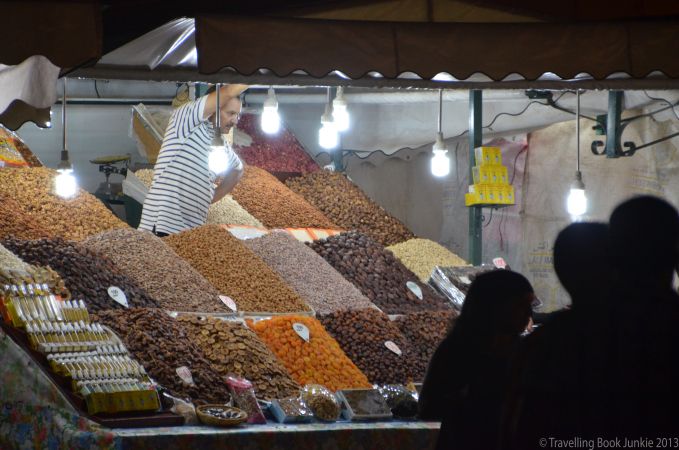 Night market, Marrakech, Morocco, Djemaa El Fna