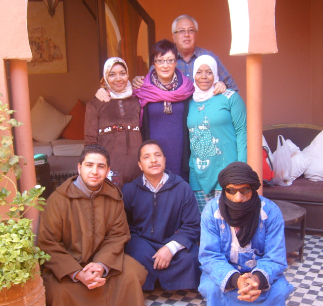 The fantastic staff and owners at Kasbah Ellouze, Morocco