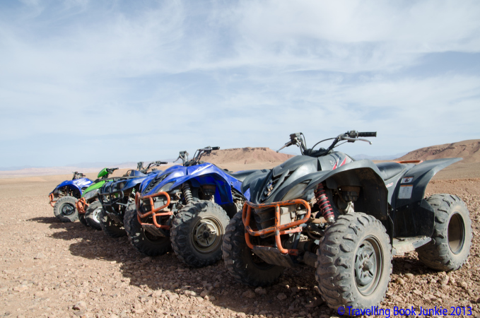 Quading biking in Morocco