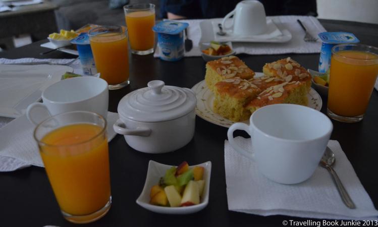 Breakfast at riad cinnamon marrakech morocco