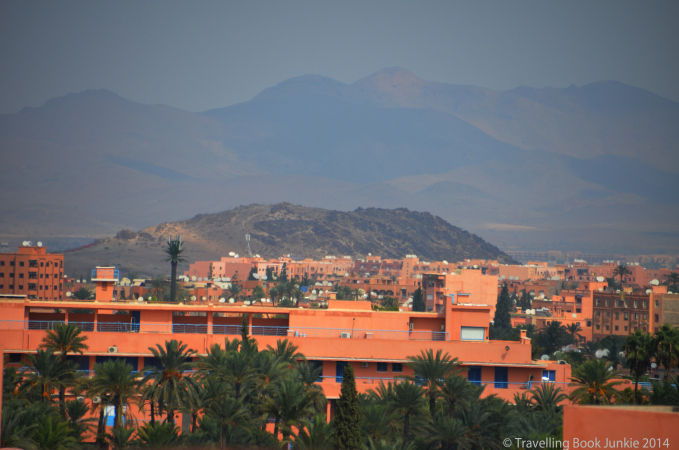 View towards the Altas Mountains, Marrakech, Morocco