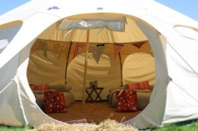 Inside Bell tent image from Flickr