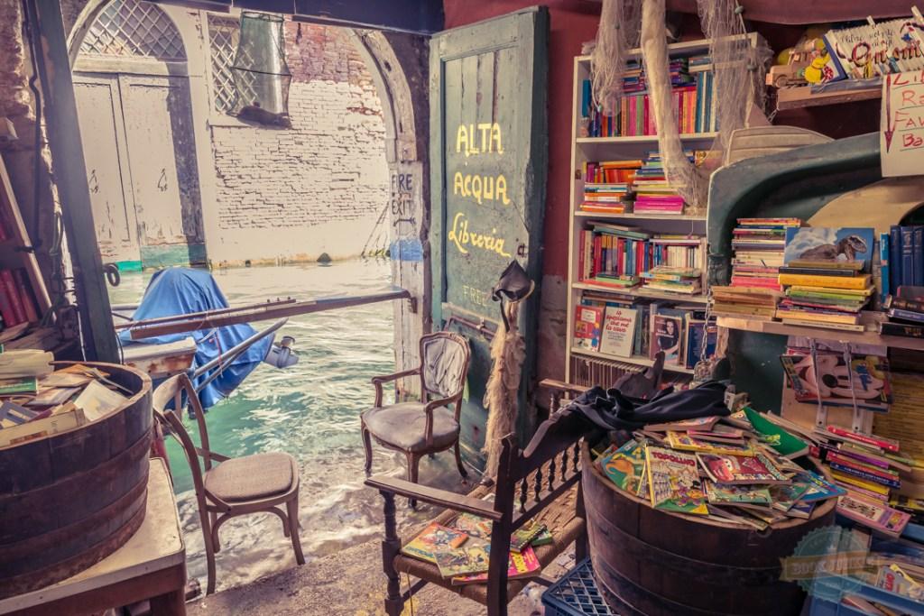Libreria Acqua Alta The reading corner of a Venice bookshop that is like none other.