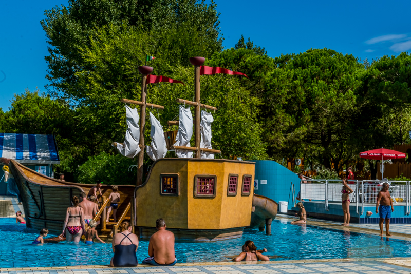 Pirate ship, Camping Ca Savio, Swimming Pool