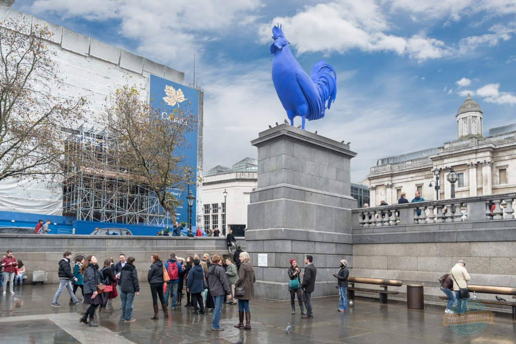 Blue Cockerel or Trafalgar Square, London, UK, city