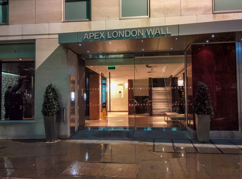 Apex London Wall hotel front