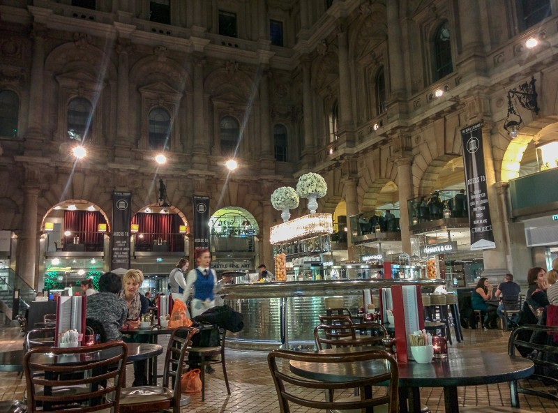 Inside the Royal London Exchange near Bank Tube Station