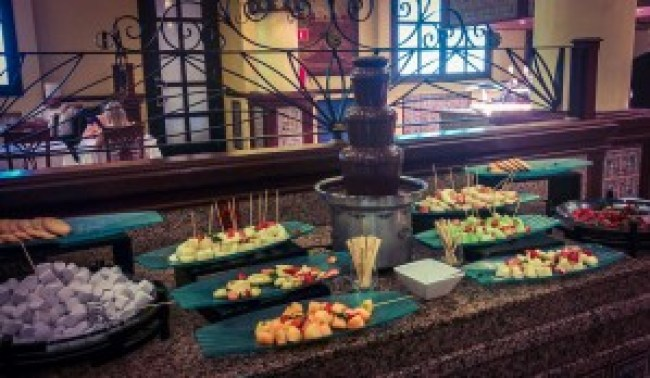 Chocolate and fruit at riu tequila mexico