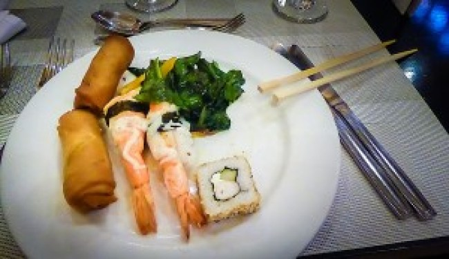 Food at the asian in riu tequila mexico