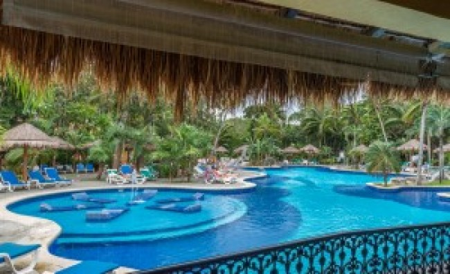 Swimming Pool in the Riu Tequila Mexico