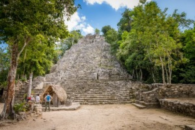 The Grupo Temple at Coba in Mexico