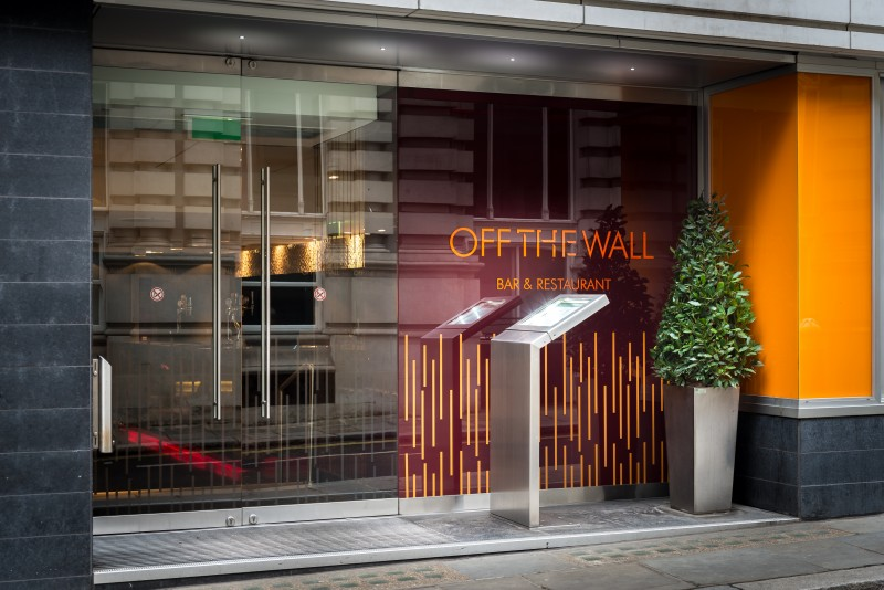 Off The Wall Restaurant attached to the Apex London Wall Hotel