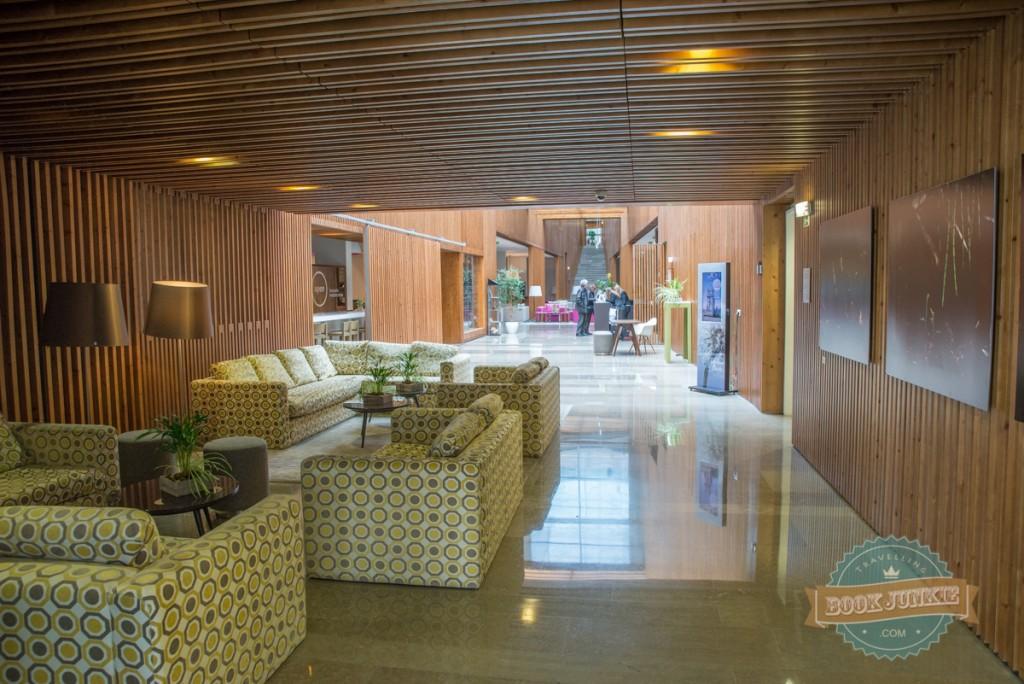 Foyer area of the Inspira Santa Marta Hotel in Lisbon Portugal