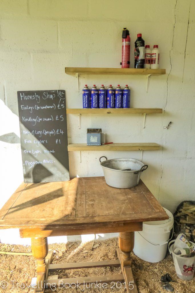 honesty shop Amber Bell Tents Norfolk Glamping