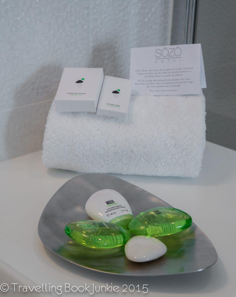 bath toiletries of the Sozo Hotel Nantes France