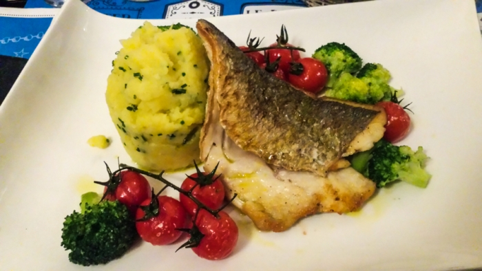 Sea Bass, Fish, Restaurant, Bleu Lezard, Lake Leman, Lake Geneva, Lausanne; Switzerland