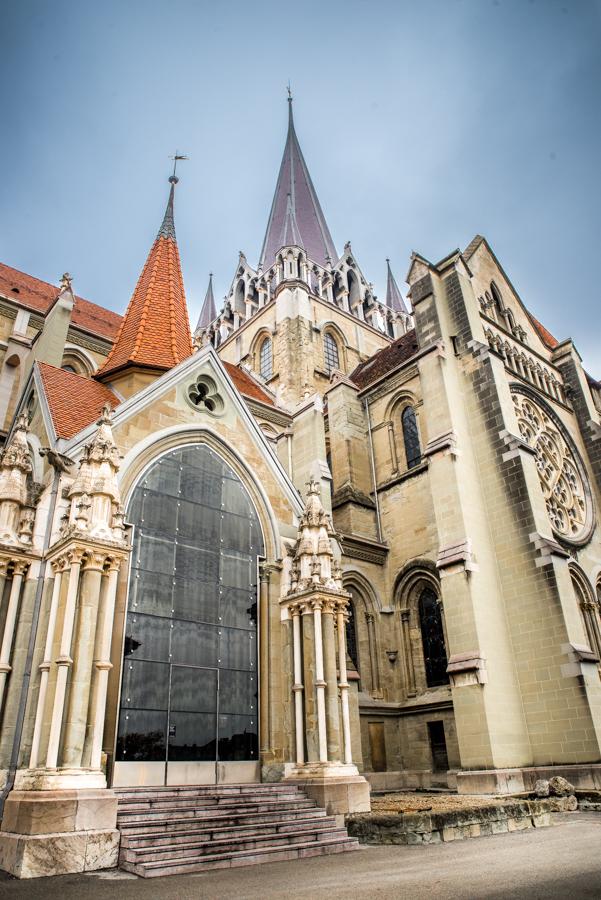 Cathedral, Lausanne, Lake Leman, Lake Geneva, Lausanne, Switerland