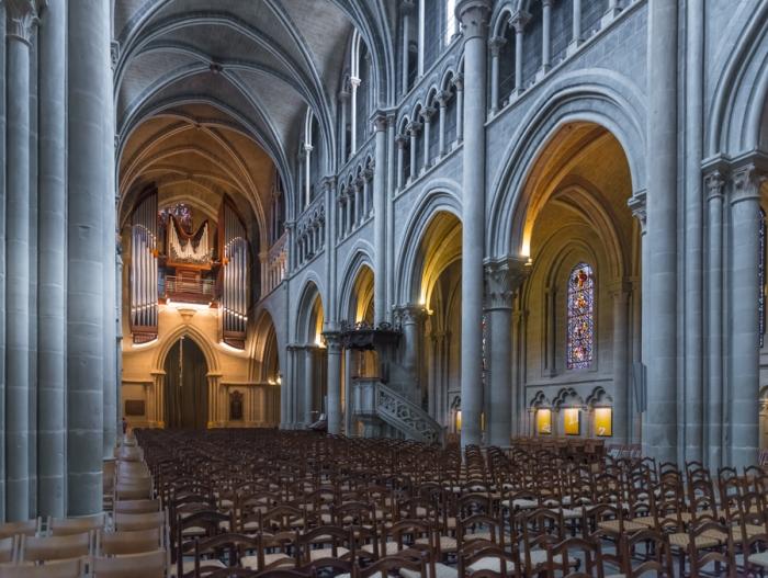Cathedral, Lausanne, Lake Leman, Lake Geneva, Lausanne, Switzerland
