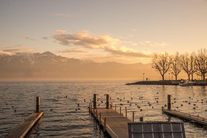 Lake Leman, Lake Geneva, Switzerland, Europe