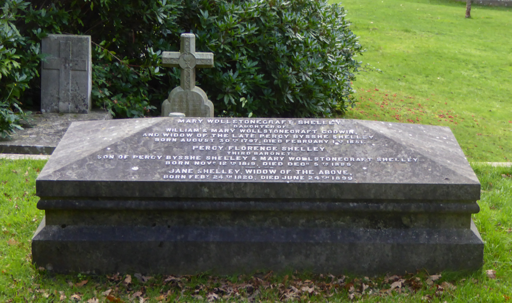 Mary Shelley's grave, bournemouth, dorset, writer, author, frankenstein