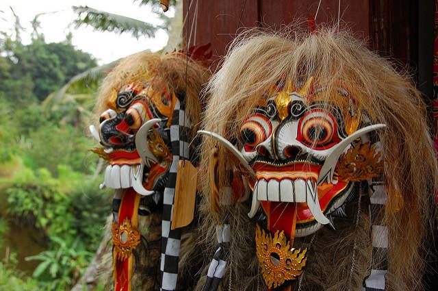 Masks, Ubud, Bali, Indonesia, Travel, Travelling Book Junkie