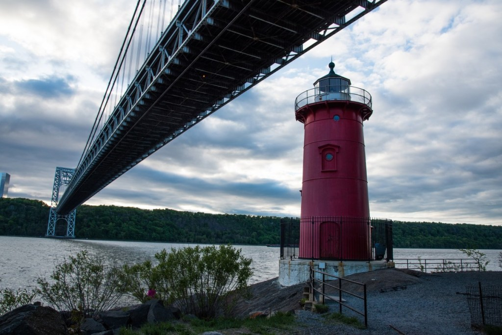 The Little Red Lighthouse is a landmark to visit when touring literary locations in the USA