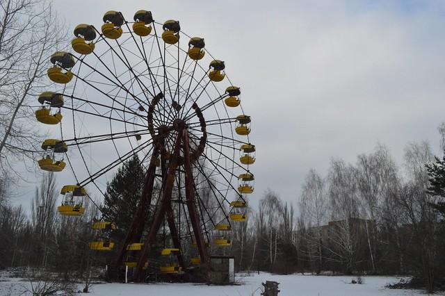Chernobyl abandoned ferris wheel