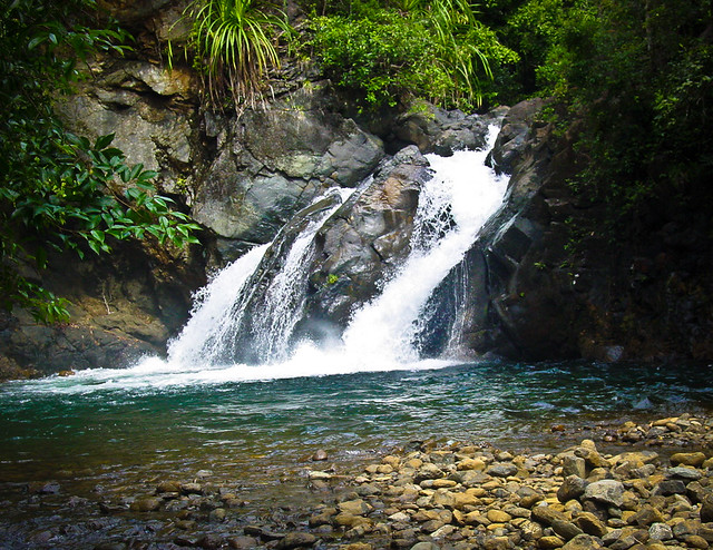 Estrella Falls in the Phillippines