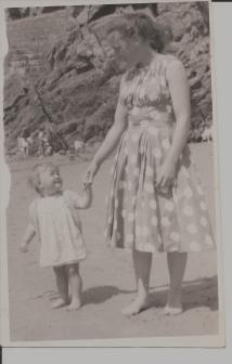mom and me Tenby Sept 59