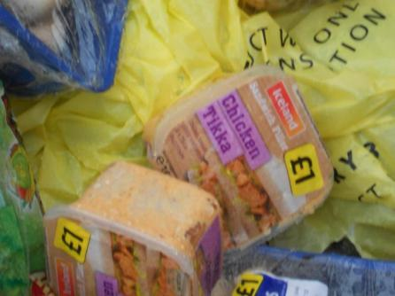 Food disposed of by a supermarket