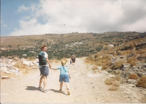 Andros walks 1 - Travelling Sylvia -  what my mother did on holiday