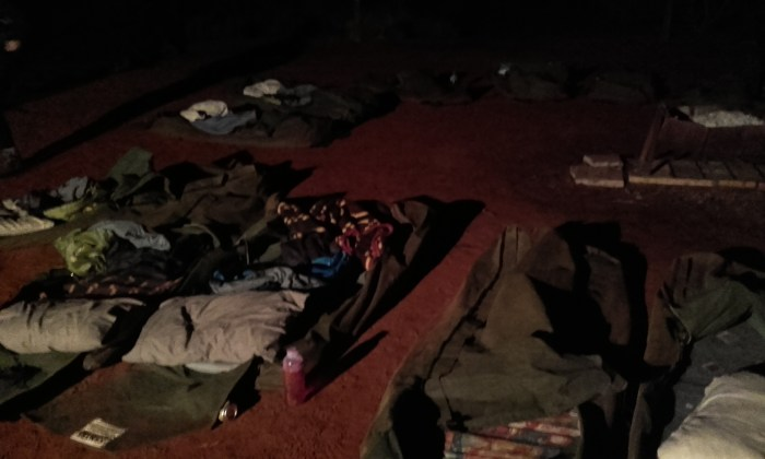 Sleeping in swags in the Northern Territory