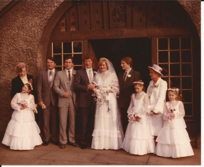 Travelling Coral gets married 1983