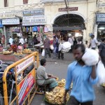Travelling Homebody explores the night market in Mysore, India.
