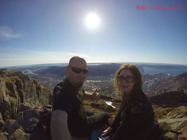 Alucinando con las vistas desde Ulriken