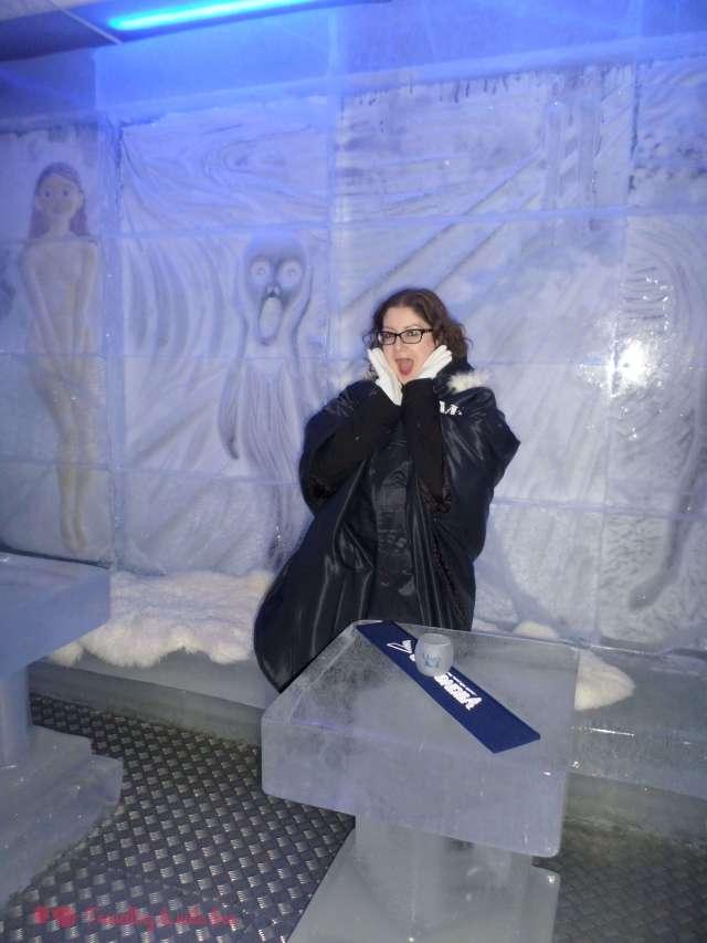 Y El grito de Munch también hecho en hielo