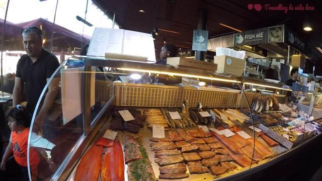 El género expuesto en el Mercado de pescado