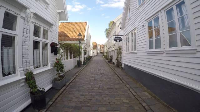 Una de las callejuelas de Gamle Stavanger