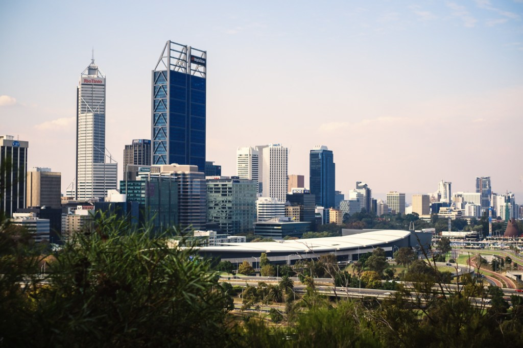Kings Park view of Perth City