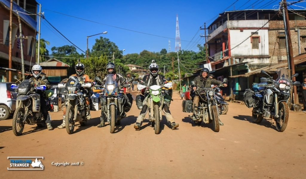 Biker Posse in Moreh, ready to cross the border