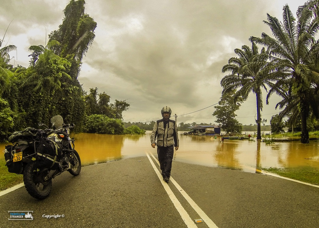 Flooded roads in Malaysia