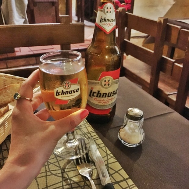Cheers to my last night in Sardinia!!