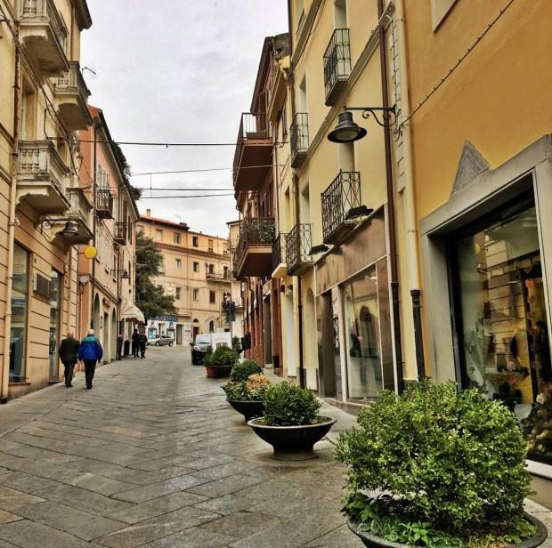Corso Garibaldi - the centre of Nuoro's shopping and dining scene